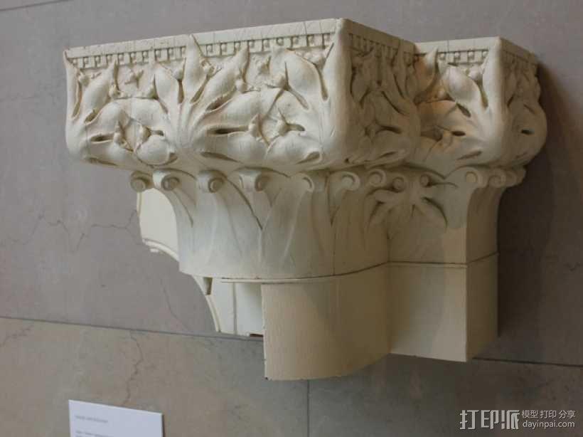 会堂大楼柱头和檐壁 3D模型  图3