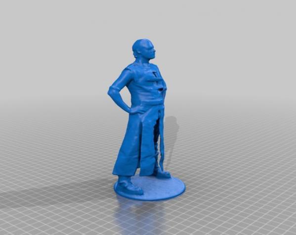 帕特里克塑像 3D模型  图1