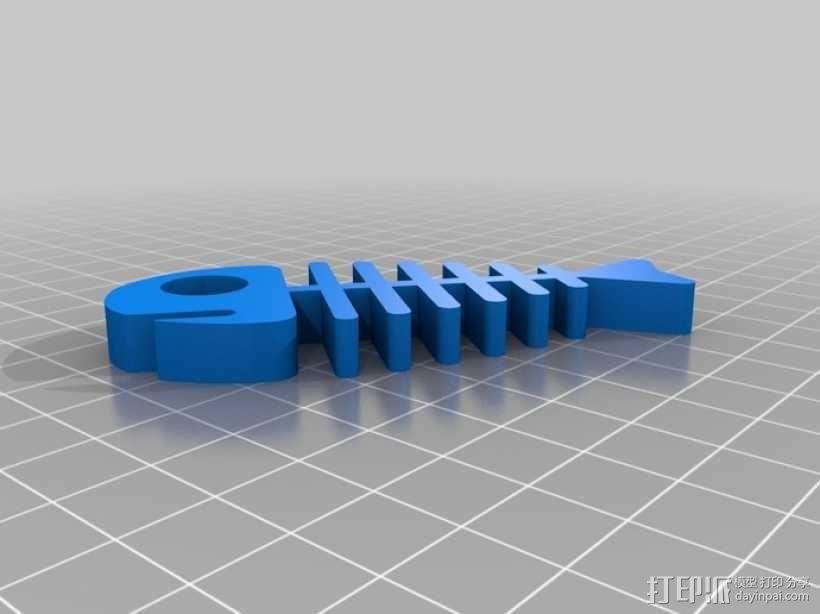 鱼骨 3D模型  图3