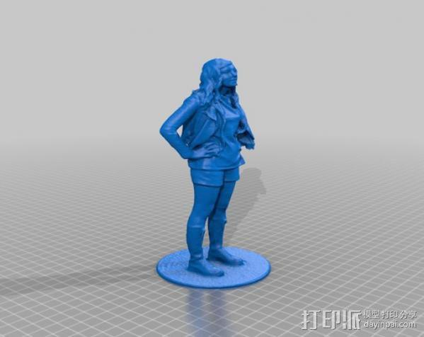 Katie塑像 3D模型  图1