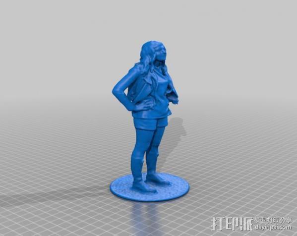 Katie塑像 3D模型  图4