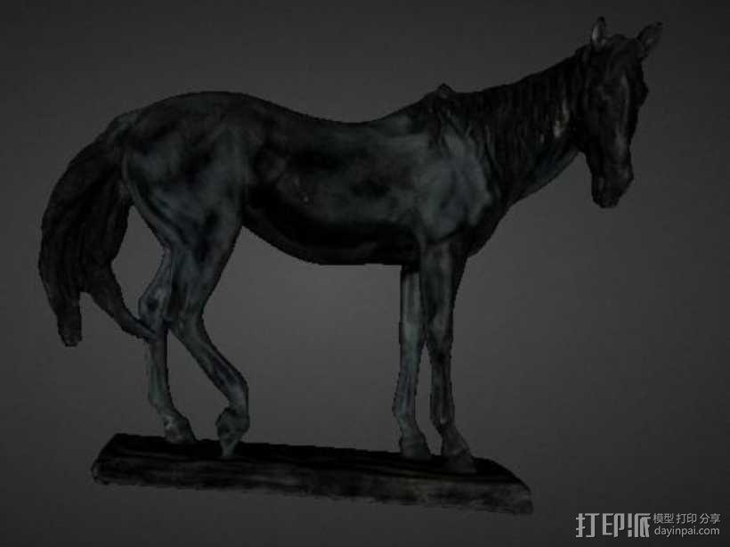 马塑像 3D模型  图1