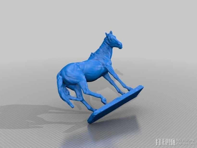 马塑像 3D模型  图2