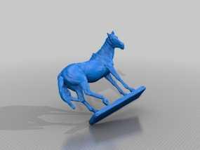 马塑像 3D模型