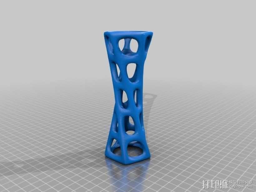 镂空圆柱体 3D模型  图1