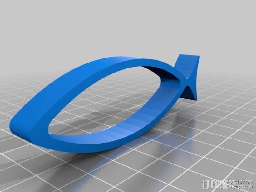 耶稣鱼 3D模型  图1