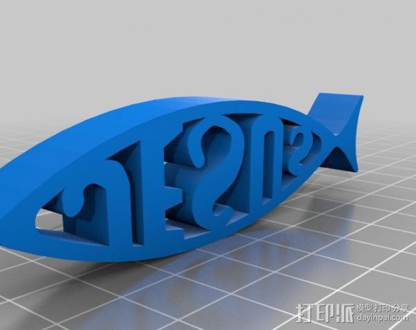 耶稣鱼 3D模型  图3