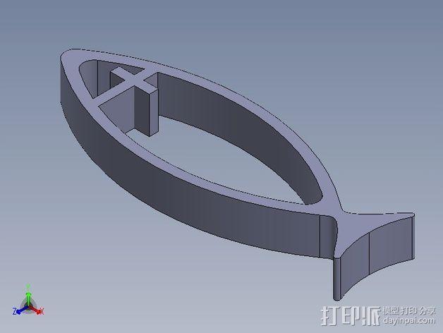 耶稣鱼 3D模型  图4