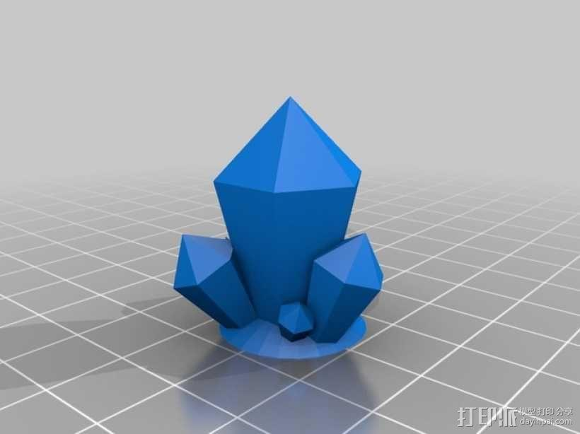 水晶 3D模型  图2