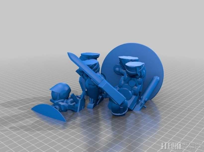 宇航员角斗士 3D模型  图2