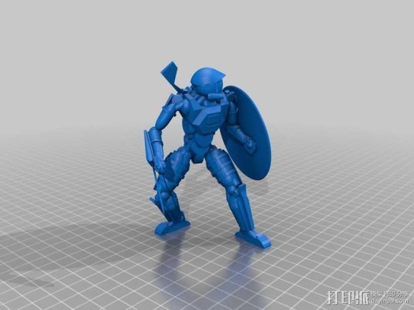 宇航员角斗士 3D模型  图1