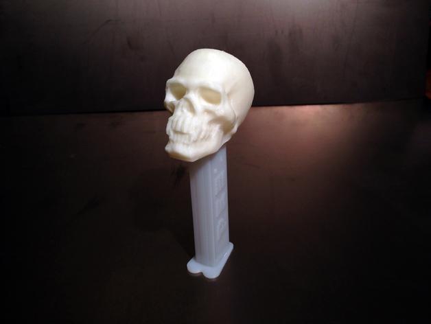 骷髅头PEZ糖果盒盖 3D模型  图2