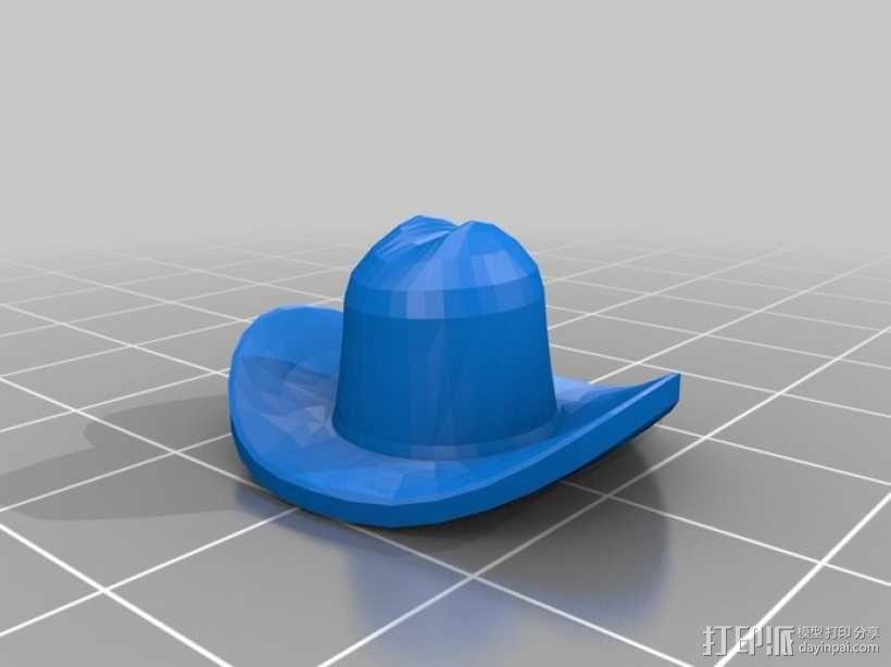 牛仔帽 3D模型  图1