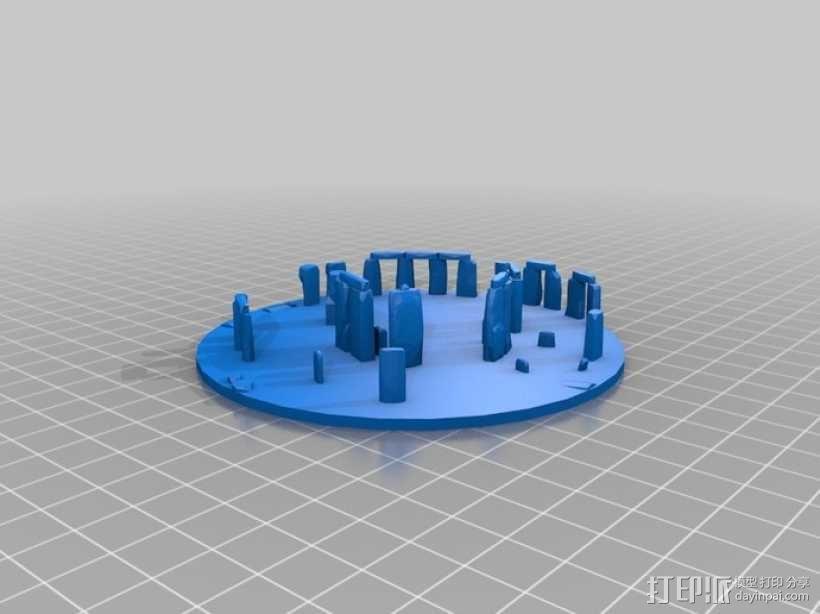 迷你巨石阵 3D模型  图2