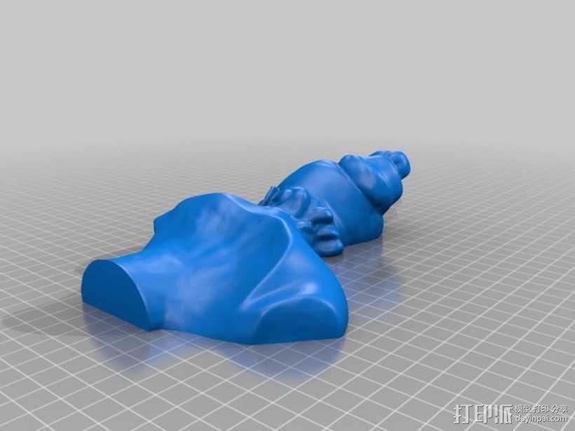 大尺寸萨福头像 3D模型  图2
