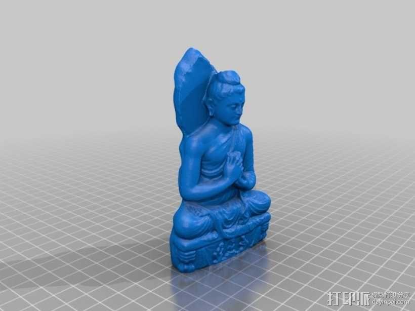 静坐大佛 3D模型  图1