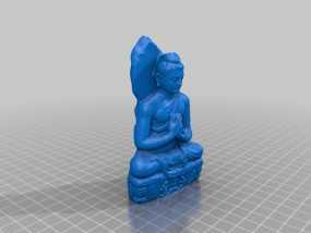 静坐大佛 3D模型