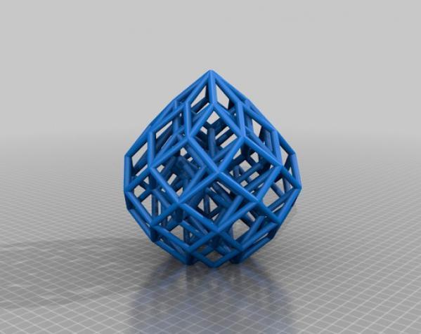 水滴形立方晶格 3D模型  图1