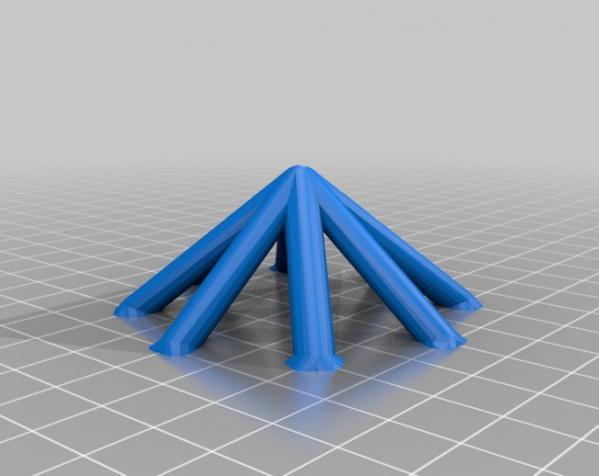 水滴形立方晶格 3D模型  图2