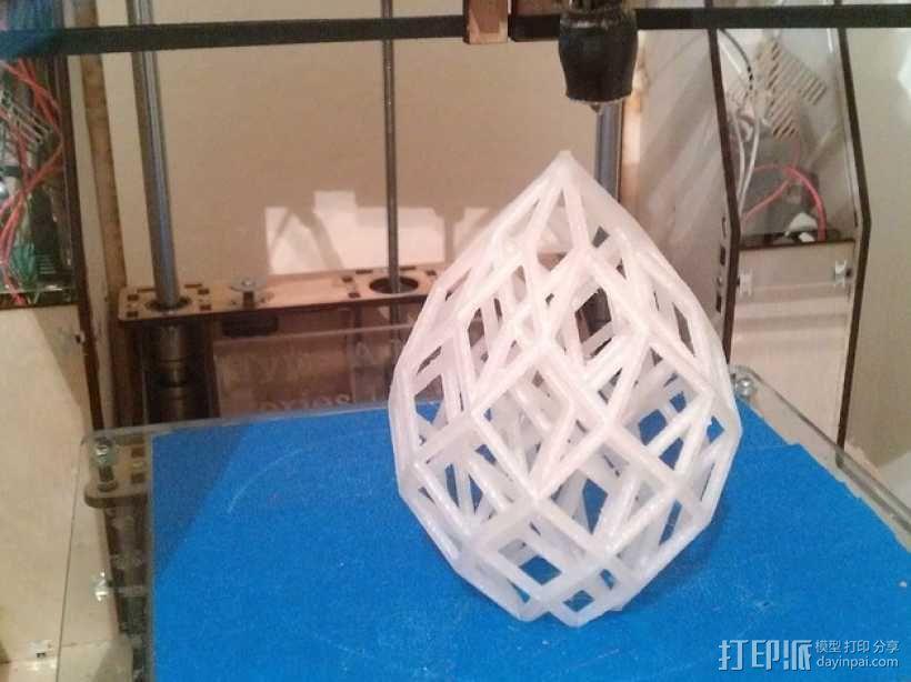 水滴形立方晶格 3D模型  图3