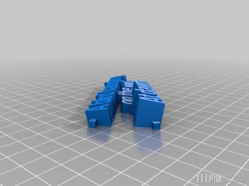 短且精——3D 俳句 3D模型  图1