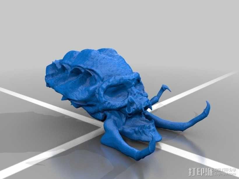 电影《铁血战士》头骨 3D模型  图1