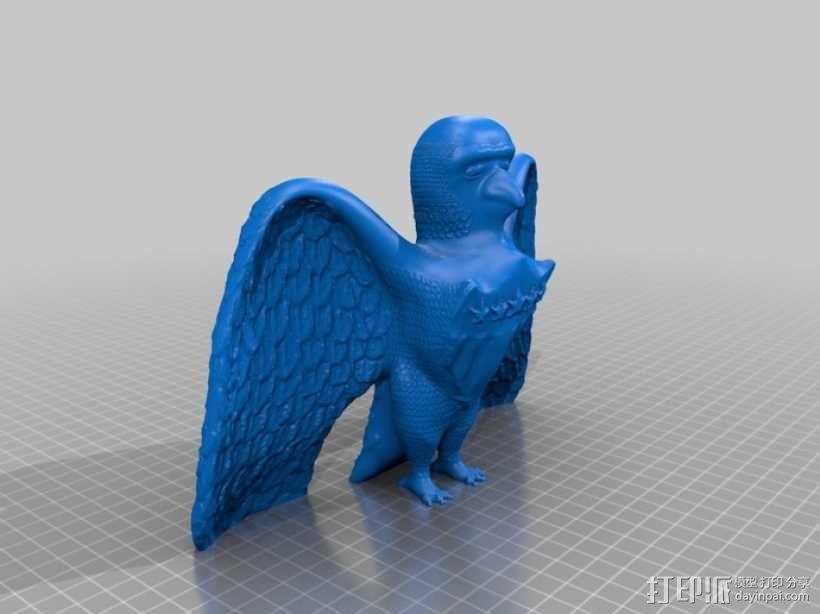 美国老鹰 3D模型  图1