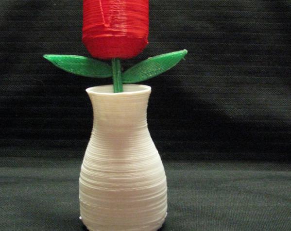 玫瑰 花瓶 3D模型  图2