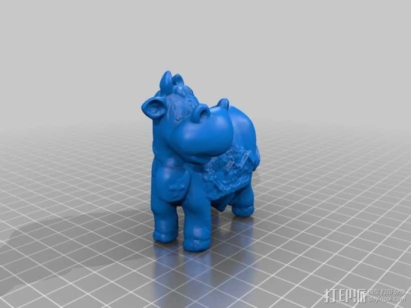 瑞士奶牛 3D模型  图1