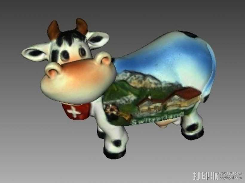 瑞士奶牛 3D模型  图2