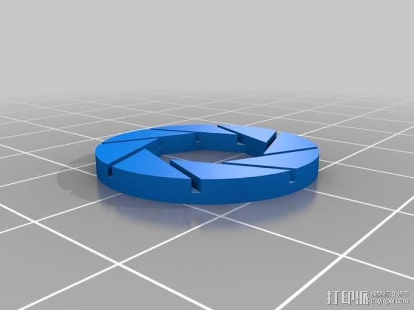 光圈科学标志 3D模型  图1