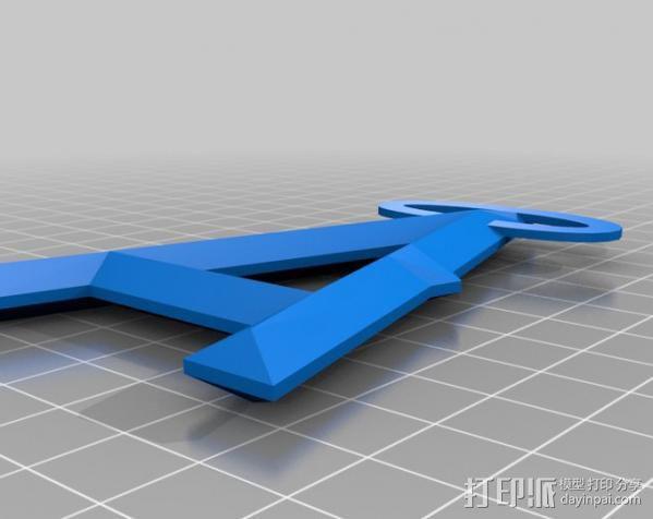 阿纳海姆天使棒球队标志 3D模型  图1