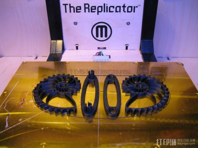 鹦鹉螺齿轮 底板 3D模型  图1