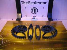 鹦鹉螺齿轮 底板 3D模型