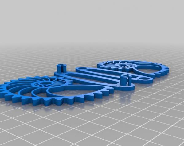 鹦鹉螺齿轮 底板 3D模型  图2
