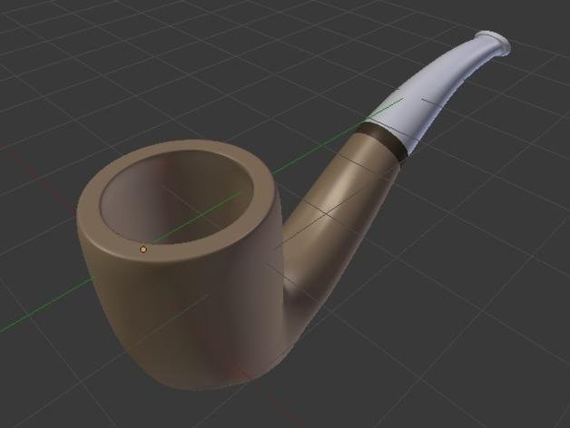 烟斗 3D模型  图2
