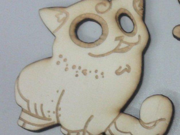 激光切割制作 小猫 3D模型  图3