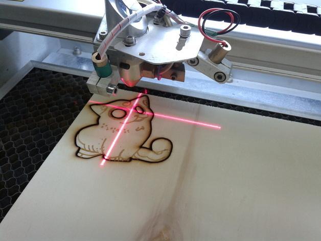 激光切割制作 小猫 3D模型  图2
