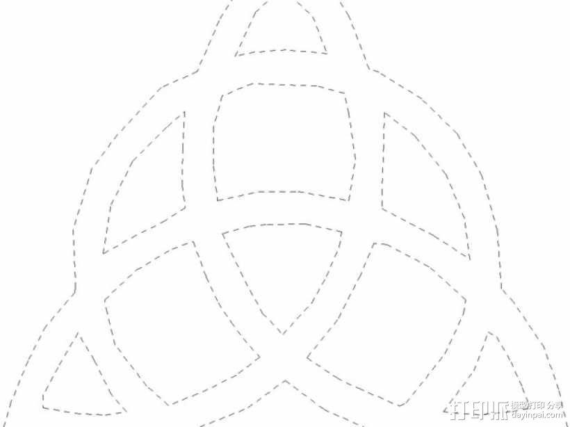 三角形图案装饰品 3D模型  图3