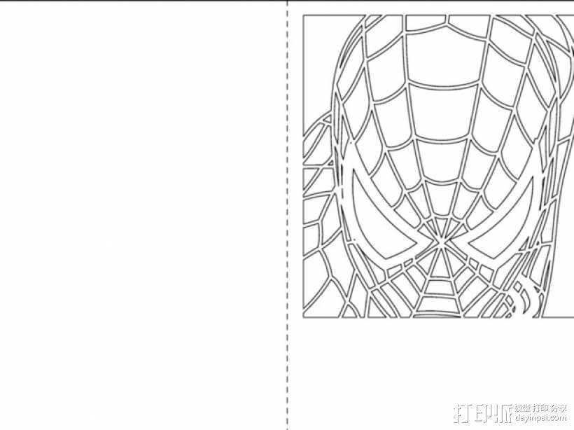 蜘蛛侠卡片 3D模型  图1