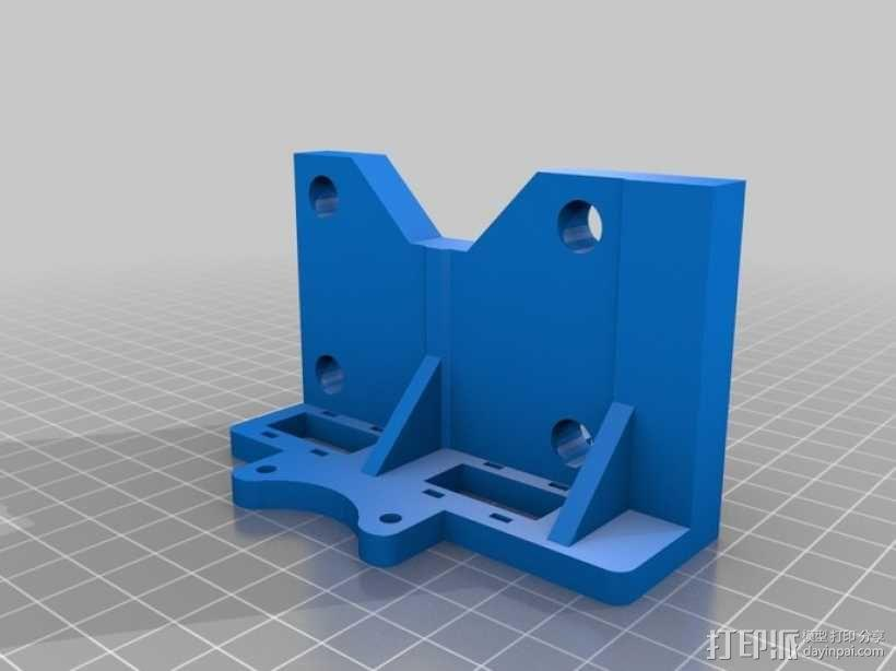 Printrbot 3D打印机双杆固定架 3D模型  图1