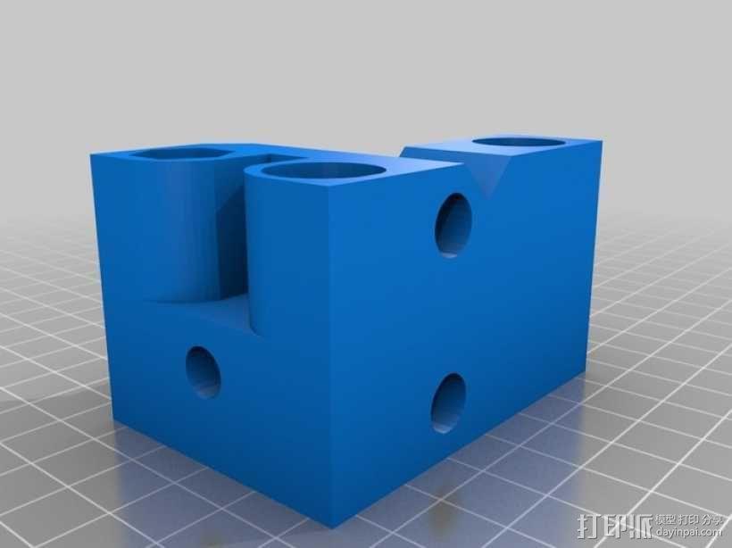 Printrbot 3D打印机双杆固定架 3D模型  图4