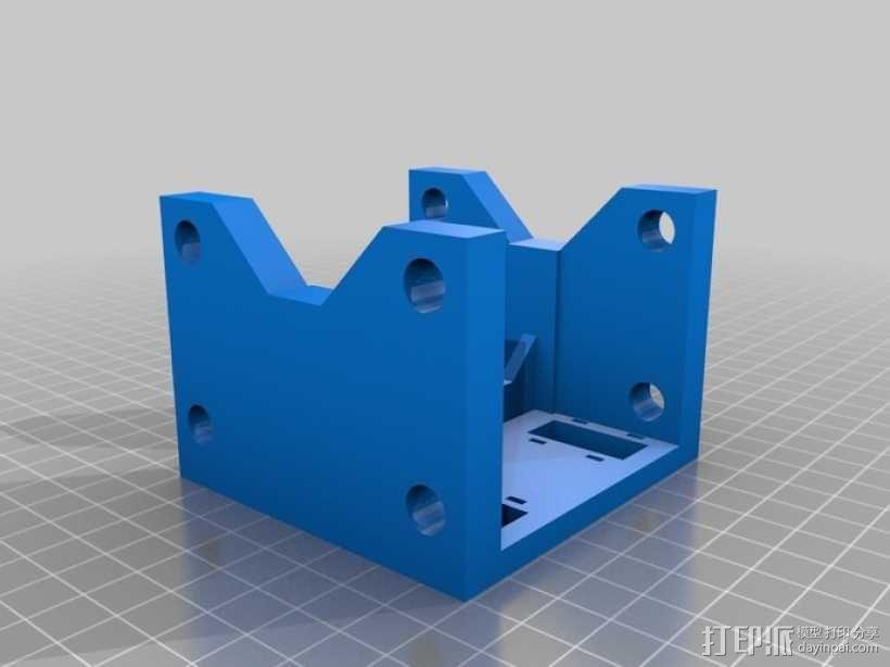 Printrbot 3D打印机双杆固定架 3D模型  图3