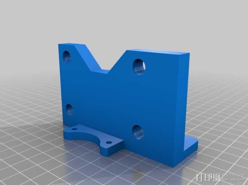 Printrbot 3D打印机双杆固定架 3D模型  图2
