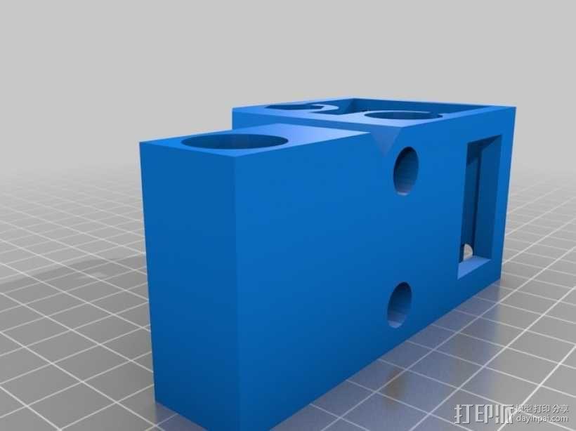 Printrbot 3D打印机双杆固定架 3D模型  图5