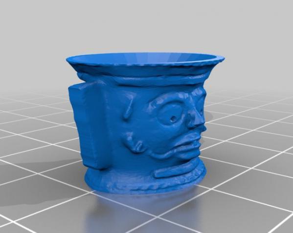 怪诞玛雅人瓮/缸 3D模型  图2
