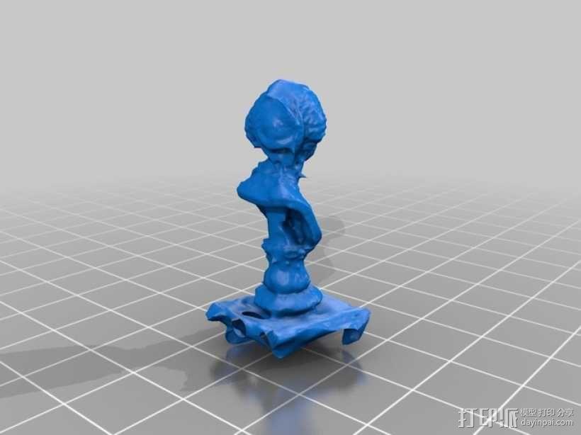 玛丽·希科尔头像 3D模型  图1