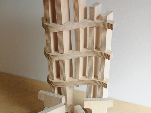 迷你字母椅 3D模型  图4