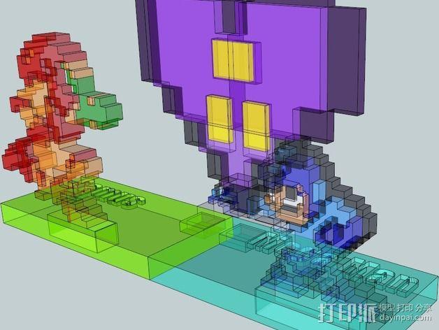 8bit 银河战士 洛克人 3D模型  图3