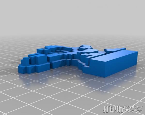 8bit 银河战士 洛克人 3D模型  图6